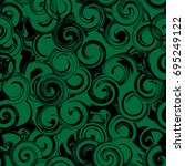black and green twirl seamless... | Shutterstock .eps vector #695249122