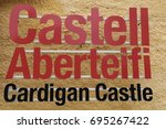 cardigan  ceredigion  wales  uk.... | Shutterstock . vector #695267422