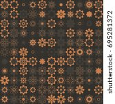 seamless floral pattern with... | Shutterstock .eps vector #695281372