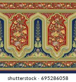 seamless traditional indian... | Shutterstock . vector #695286058