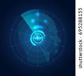 concept of mind control  radar... | Shutterstock .eps vector #695288155