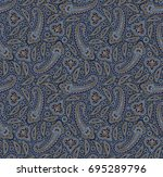 seamless paisley pattern   Shutterstock . vector #695289796