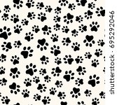 seamless animal pattern of paw...   Shutterstock .eps vector #695292046