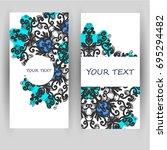 templates set. business cards ... | Shutterstock .eps vector #695294482