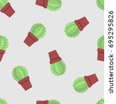 Seamless Pattern Of Cactus....