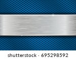 iron brushed metal texture on... | Shutterstock .eps vector #695298592