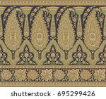 seamless paisley indian motif | Shutterstock . vector #695299426