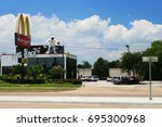 houston  texas    july 18  2008 ... | Shutterstock . vector #695300968