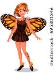 beautiful monarch butterfly... | Shutterstock .eps vector #695301346