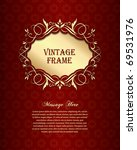 golden vintage background | Shutterstock .eps vector #69531976
