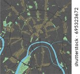 moscow vector map with dark... | Shutterstock .eps vector #695323672