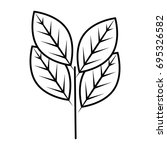 leaves icon image   Shutterstock .eps vector #695326582