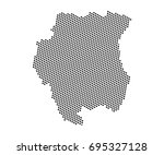 abstract map of suriname dots... | Shutterstock .eps vector #695327128