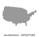 abstract map of united states... | Shutterstock .eps vector #695327182