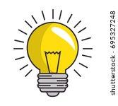 bulb light energy | Shutterstock .eps vector #695327248