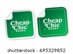cheap   chic stickers | Shutterstock .eps vector #695329852