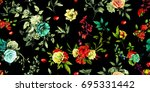 Wide Seamless Floral Pattern. ...