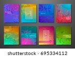 minimal covers design gradients ... | Shutterstock .eps vector #695334112