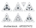 vector celtic trinity knot part ... | Shutterstock .eps vector #695337472