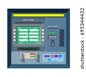 bank atm. automatic teller... | Shutterstock .eps vector #695344432