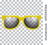 Yellow Sun Glasses Vector...