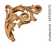 baroque vector of vintage... | Shutterstock .eps vector #695353372