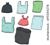 vector set of plastic bag | Shutterstock .eps vector #695354278