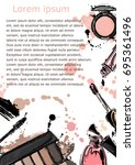 vector abstract background with ... | Shutterstock .eps vector #695361496