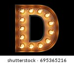 light bulb glowing letter... | Shutterstock . vector #695365216