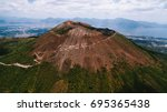 vesuvius volcano from the air | Shutterstock . vector #695365438