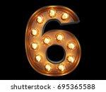 light bulb glowing digit... | Shutterstock . vector #695365588