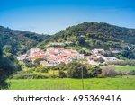 portuguese village  bordeira ... | Shutterstock . vector #695369416