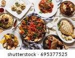presentation of variety... | Shutterstock . vector #695377525
