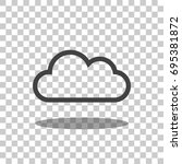 cloud icon vector isolated | Shutterstock .eps vector #695381872