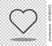 heart   heart icon   heart... | Shutterstock .eps vector #695382052
