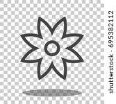 flower icon vector isolated | Shutterstock .eps vector #695382112