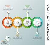 four overlapping translucent... | Shutterstock .eps vector #695384926