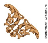 baroque vector of vintage... | Shutterstock .eps vector #695386978