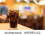 cool ice soft drink cola... | Shutterstock . vector #695391112