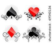 decorative card symbols | Shutterstock .eps vector #69540136