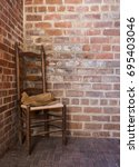 Small photo of Vintage chair in corner