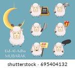 festival of sacrifice eid al... | Shutterstock .eps vector #695404132