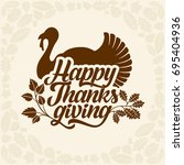 typography of thanksgiving.... | Shutterstock .eps vector #695404936