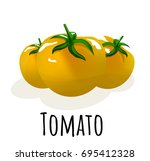 vector illustration food... | Shutterstock .eps vector #695412328