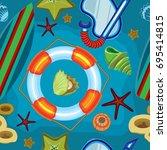 vector seamless pattern.... | Shutterstock .eps vector #695414815