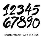 vector set of calligraphic... | Shutterstock .eps vector #695415655