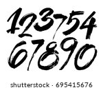 vector set of calligraphic... | Shutterstock .eps vector #695415676