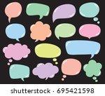 vector set of speech bubbles ...   Shutterstock .eps vector #695421598