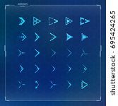 vector futuristic arrow icons...