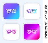 testing glasses bright purple...